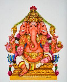 Manivelu A. | Forms of Devotion Ganesha Art, Lord Ganesha, Indian Traditional Paintings, Om Art, Detailed Paintings, Indian Folk Art, Learn Art, Artist Life, Deities