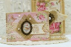 Pretty card past DT member Viola Mahr made using our Love Scraps and Grand Greetings Clear Art Stamps