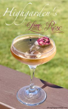 5 More Game of Thrones Cocktails — A Heaping Spoonful Game of Thrones Cocktail Drinks 70 Cocktail And Mocktail, Rose Cocktail, Champagne Cocktail, Cocktail Recipes, Cocktail Food, Rose Champagne, Fun Cocktails, Game Of Thrones Drink, Game Of Thrones Cocktails