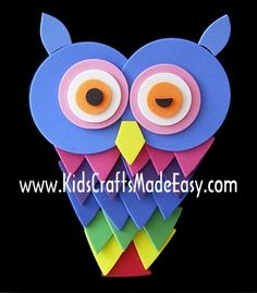 Owl Crafts for Kids....cute  children's craft for after school activities or to do at home