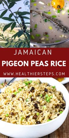Jamaican Pigeon Peas And Rice is very tasty and popular Jamaican one pot side, made with pigeon peas also known as Gungo peas in Jamaica and cooked in seasoned coconut milk. Vegan Cabbage Recipes, Best Vegan Recipes, Best Dinner Recipes, Holiday Recipes, Rice And Pigeon Peas, Rice And Peas, Jamaican Rice, Vegan Side Dishes, Coconut Milk