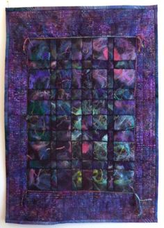 Love the colors in this!  Mixed Media Fiber Art  Purple Impressions by StitchesnQuilts, $180.00