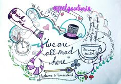 Designed an Alice in Wonderland piece as a trade off for a knitted creation from a fellow creative. Enjoyed exploring this new style of artwork #aliceinwonderland #illustration #creative #linework #drawing #weareallmadhere #wonderland #teatime #dream #doodling