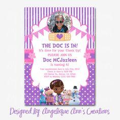Doc McStuffins Invitations DIY Printable by jayarmada on Etsy, $13.99