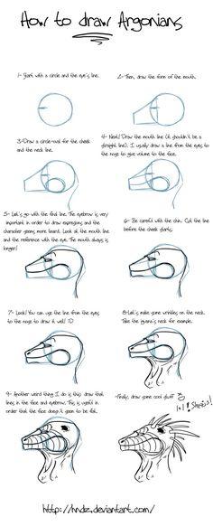 How to draw argonians -part 1- by Hndz.deviantart.com on @deviantART
