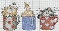 схемы вышивки крестом лапки кошки - Поиск в Google