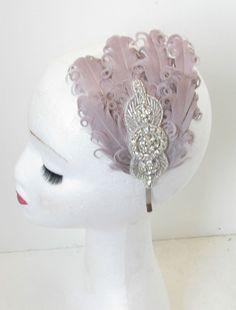 Feather Headpiece, Feather Dress, Headdress, Fascinator, 1920s Flapper, Flapper Style, 1920s Hats, 1920s Headband, Rose Corsage