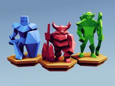 Low Poly Fantasy Tabletop - Alliance Base Units by Davision3d - Thingiverse