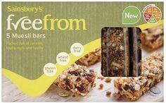 muesli bars Dairy Free, Gluten Free, Muesli Bars, Sainsburys, Cereal, Seeds, Fruit, Breakfast, Food