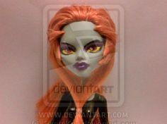 Midna (from Zelda Twilight Princess) monster high doll repaint.