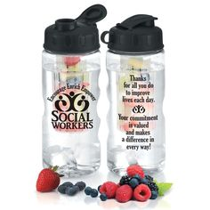 Social Workers Encourage Enrich Empower Fruit Infuser Water Bottle