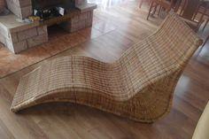 Fotel z wikliny leżak wiklinowy fotel wiklina - Zdjęcie na imgED