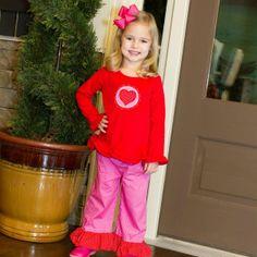 1/6/2014  Red & Pink Polkadot Valentine's Pants Set
