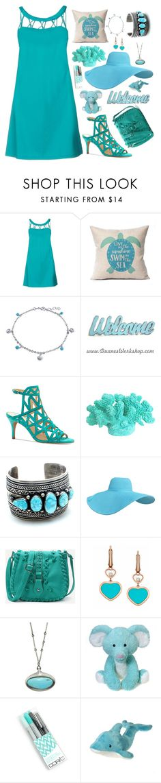 """""""Turquoise"""" by xidecx ❤ liked on Polyvore featuring Fisico, Bling Jewelry, Vince Camuto, WithChic, Chopard, Ten Thousand Things, Blue, dress and turquoise"""