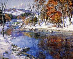 The Athenaeum - SYMONS, George Gardner American Impressionist (1863-1930)_The First Snowfall - circa 1920