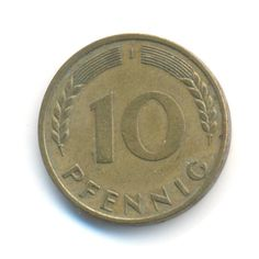 Vintage Coin Germany 10 Pfennig 1950 J by JMCVintagecards on Etsy Rare Coins Worth Money, Valuable Coins, Rare Coin Values, German Coins, Collector Knives, Coin Worth, Old Money, Germany, Personalized Items