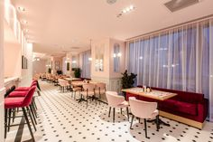 pink restaurant interior design