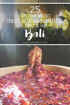 25 of the Best Instagram Spots in Bali! Bali is picture perfect, and now your insta feed is too ;)