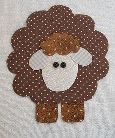 Little sheep paper craft Sheep Crafts, Felt Crafts, Easter Crafts, Fabric Crafts, Sewing Crafts, Sewing Projects, Applique Templates, Applique Patterns, Applique Quilts