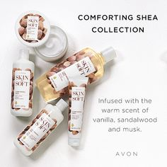 Treat your skin this season with AVON's Skin So Soft Comforting Shea Body Butter. Its nourishing and hydrating formula helps protect skin, shop now. Avon Skin So Soft, Shea Body Butter, Hand Cream, Body Wash, Body Lotion, Bath And Body, Fragrance, Avon Products, Avon Representative