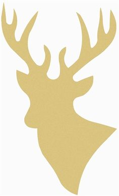 Deer Unfinished Cutout, Wooden Shape, Paintable Wooden MDF DIY Craft DIY Craft…