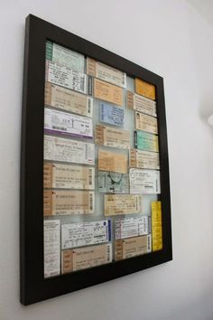 crafts to give your old concert tickets new life 11 crafts to give your old concert tickets new life - Features - Alternative crafts to give your old concert tickets new life - Features - Alternative Press Concert Ticket Display, Concert Ticket Gift, Ticket Stubs, Diy Shadow Box, Memory Frame, Travel Souvenirs, Travel Scrapbook, Room Themes, Collage