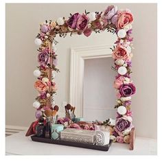 howto diy tutorials doityourself flower mirror on Instagram