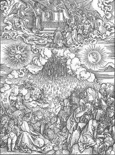 Albrecht Dürer (1471–1528)    Title: The Revelation of St John: 5. Opening the Fifth and Sixth Seals