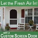Aluminum screen doors from PCA Products