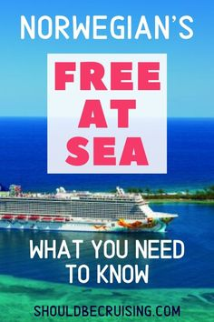 Norwegian Cruise Line's Free at Sea promotion is a popular sale with cruise passengers. But be sure to choose your Free at Sea perks carefully! Packing For A Cruise, Cruise Travel, Cruise Vacation, Cruise Reviews, Travel Reviews, Best Cruise, Cruise Tips, Travel Guides, Travel Hacks