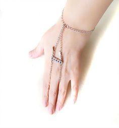 slave bracelet slave ring Silver chain ring   #slavebracelet #slavering #handjewelry #purplebracelet #weddingbridal #ringfingerbracelet #chainbracelet #bodyjewelry #bodychain
