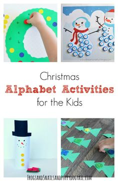 I love doing holiday themed activities with the kids. My second child has been working on his alphabet this year at school.  And exposing baby brother to them is great as well.  We have done a few holiday inspired alphabet activities but I went looking for more inspiration from around the web.  Here is a …
