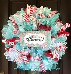 A lot of mesh + a little ribbon = Merry Christmas! A lot of mesh + a little ribbon = Merry Christmas! Merry Christmas, Whimsical Christmas, Christmas Holidays, Christmas Mesh Wreaths, Christmas Swags, Christmas Ribbon, Diy Wreath, Snowflake Wreath, Wreath Ideas