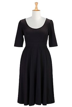 Fit and flare cotton knit dress, $70
