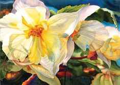 In celebration of Earth Day, we are bringing you beautiful flowers by artist Marney Ward 🌸 🌷 🌺 Ward also gives us a wonderful watercolor demo that dives into lighting and creating depth within your paintings. Read the demo here! Watercolor And Ink, Watercolor Flowers, Watercolor Paintings, Floral Paintings, Watercolors, Watercolor Painting Techniques, Painting Lessons, Abstract Flowers, Your Paintings