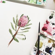 Embracing every moments ❤️ Watercolor Birthday Cards, Protea Flower, Computer Chip, Watercolour Tutorials, Types Of Flowers, Always Be, Amazing Gardens, Watercolor Art, Beautiful Flowers