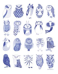 Owls by Karin Lindeskov