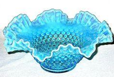 Gorgeous blue antique glassware