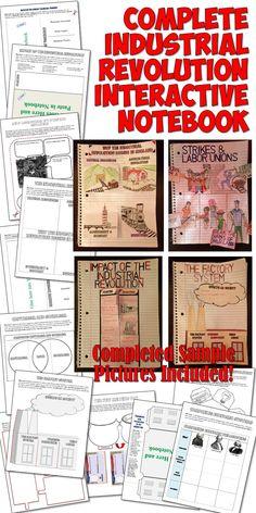 Industrial Revolution Interactive Notebook - 12 engaging Interactive Notebook pages on the Industrial Revolution!