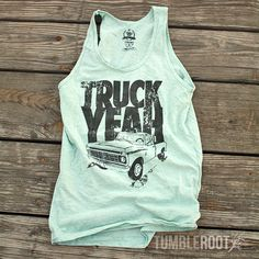 """You'll love this country lifestyle inspired """"Truck Yeah"""" tank top! This original design is screen printed with quality inks onto super soft and comfortable American Apparel tank tops. Country Outfits, Country Girls, Country Jam, Country Music, Summer Outfits, Cute Outfits, Summer Baby, Festival Fashion, What To Wear"""