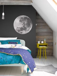 Buy Christy Galaxy Spot Print Cotton Duvet Cover and Pillowcase Set, Single from our Children's Bedding Sets range at John Lewis & Partners. Modern Wallpaper Designs, Contemporary Wallpaper, Designer Wallpaper, Wallpaper Ideas, Wood Effect Wallpaper, Galaxy Bedroom, Ikea, Blue Duvet, Beds For Sale