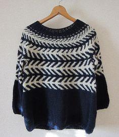 Black & White Cardigan pattern by Mariko Mikuni Crochet Patron, Knit Or Crochet, Crochet Cats, Crochet Birds, Crochet Food, Crochet Animals, Motif Fair Isle, How To Purl Knit, Hand Knitted Sweaters