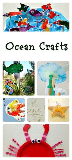 Great project/theme ideas for PK-1st. Grade: Ocean Crafts for Kids. {Fantastic Fun and Learning}