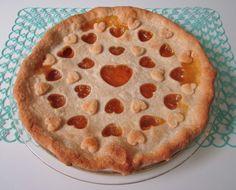 "kawaiiful: ""peachy heart pie (by artgoodieshome) "" Pretty Cakes, Cute Cakes, Cute Food, Yummy Food, Think Food, Cute Desserts, Aesthetic Food, Summer Aesthetic, Back Home"
