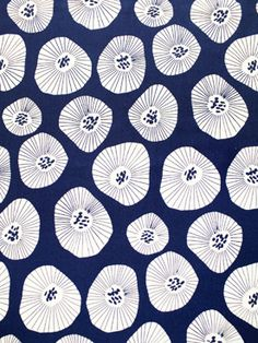 Moira Deep Indigo Fabric - Lotta Jansdotter