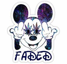 Faded Mickey sticker on Wanelo