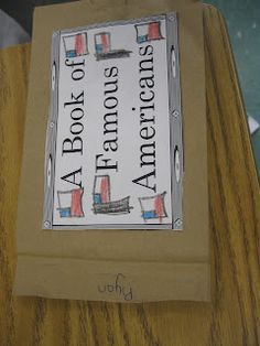 Third Grade Thinkers: A Famous American Paper Bag Book