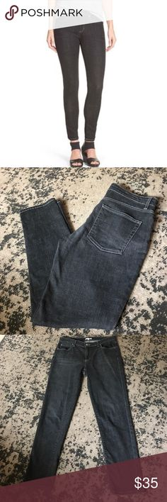 """Dark Gray Skinny Jeans Excellent condition. Inseam- 29"""". Rise- 9"""". Waist across front without dip- 17"""". Eileen Fisher Jeans Skinny"""