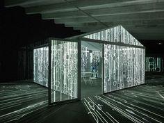 InsideOut Multimedia Installation by Leigh Sachwitz, Hamburg – Germany Interactive Installation, Artistic Installation, Interactive Art, Light Installation, Art Installations, Facade Lighting, Projection Mapping, Wallpaper Magazine, Light Art