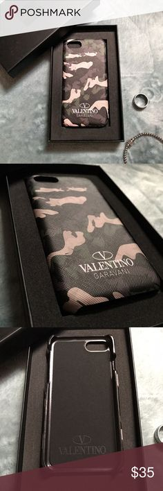 IPHONE 7 Fashion Designer Luxury Phone Case New with Box very good quality plastic case. Valentino Accessories Phone Cases